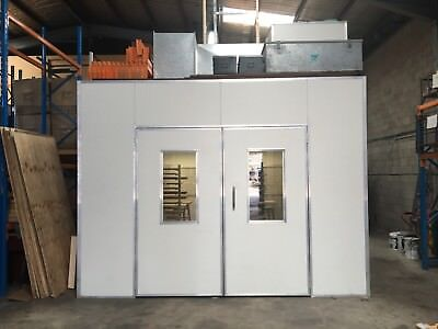 M7 Spray Booth 6100 X 3900 Semi Down Draft With Mixing Room 2300 X 1650 Complete