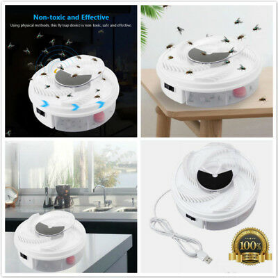 Electric Fly Trap Device with Trapping Food -White USB Cable Bug Killer