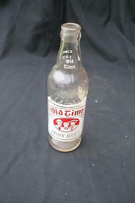 Clear Glass Old Time Root Beer Bottle  ABC Beverage Reading PA Vintage Antique