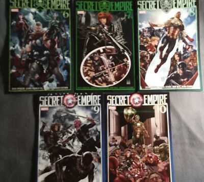 Marvel Comics Secret Empire #6, 7, 8, 9, 10 (2017) Captain America VF-NM