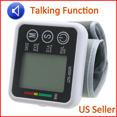 Blood Pressure Monitor Digital Wrist Cuff Automatic BP Measure Heart Rate Pulse