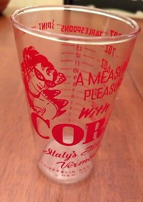 Vintage Cora Vermouth Measuring cup 8 Ounce - Schieffelin & Co