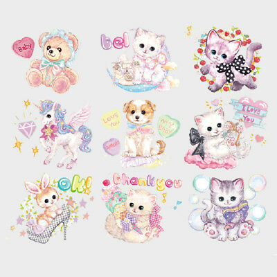 Candy Cats Series Heat Transfer Patches Kids Household Iron-on Washable Patch