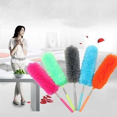Telescopic Duster Extendable Microfiber Dust Cleaner Handle Home Car Cleaning AU