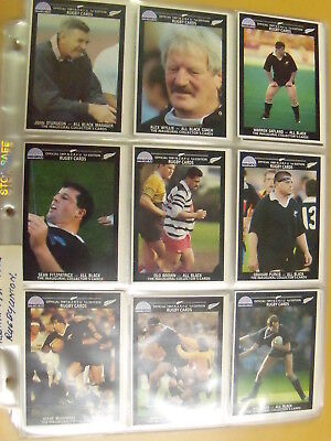 Regina 1991 New Zealand Rugby. Collectors Cards. All blacks and club teams. FTP