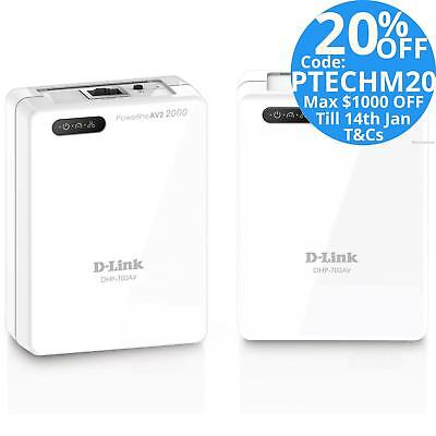 D-Link DHP-701AV KIT AV2 2000 PowerLine Ethernet Network Adapter Range Extender