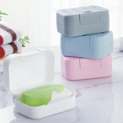 New Dual Purpose Travel Waterproof Seal Up Soap Case Box Holder Container Ornate