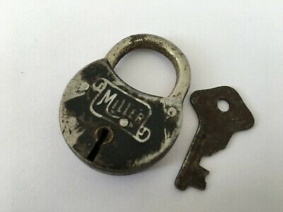 Vintage Old ANTIQUE MILLER THE YALE & TOWNE MFG CO Lock Padlock COLLECTIBLE