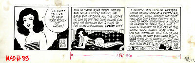Mort Walker Mad Magazine Sybil Sudsy Strip from Issue #89 Not Reprinted