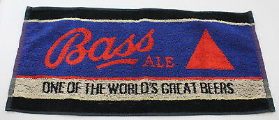 "Bass Ale One of the World's Great Beers Vintage Bar Towel 18.5"" x 8.5"""