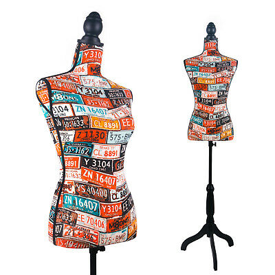 Female Mannequin Torso Dress Form Display Style (On Black Tripod Stand)