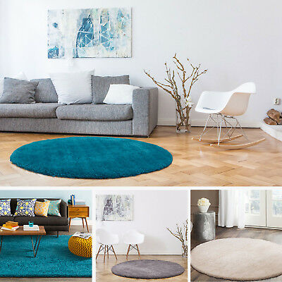 Round Retangle Shag Shaggy Floor Rug Luxury Soft Plush Thick Lounges Carpet Mat