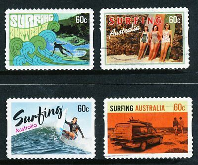 Australian 2013 Surfing Australia, set of 4 S/A stamps, used