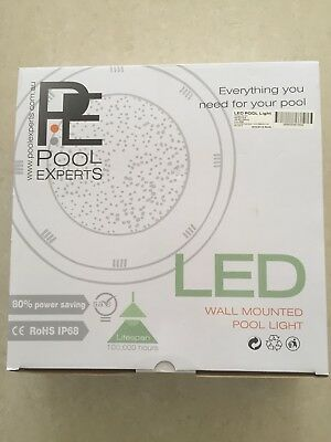 2 x Submersible Swimming Pool LED Lights + Controllers with 7 Different Colours