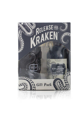 Kraken Black Spiced Rum Ceramic Glass Tiki Gift Pack 700Ml