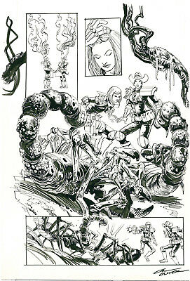 Judge Anderson (from Judge Dredd) Splashy page by Carl Critchlow 2000 AD