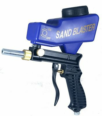 LEMATEC Gravity Feed Portable Sandblasting Gun for remove spot rust w/ free tip