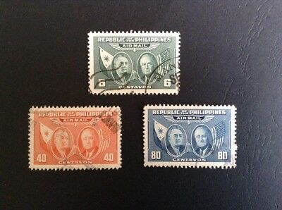 Philippines Airmails Stamps SG 641-3 Used