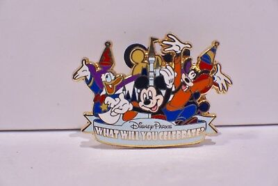 "Disney Parks "" What Will You Celebrate "" Pin *Mickey, Goofy and Donald*"