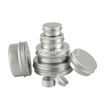 5/10/30/50/80/100ml Empty Silver Aluminium Pot Cosmetic Jar Tin Sample Container