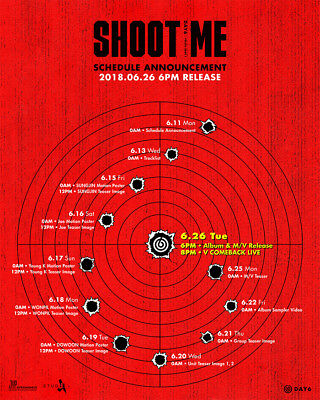 DAY6 - Shoot Me : Youth Part 1 [Random ver.] CD+Folded Poster+Gift+Tracking no.