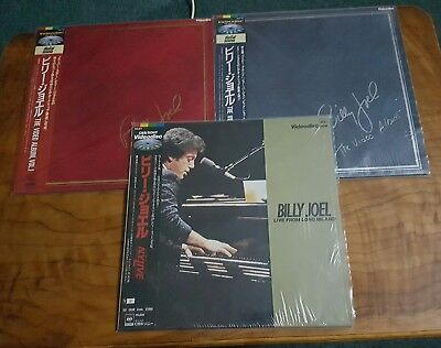 Billy Joel X 3 Laserdiscs Japan Prints Obi / Video Album I & Ii & Live 1983 1986