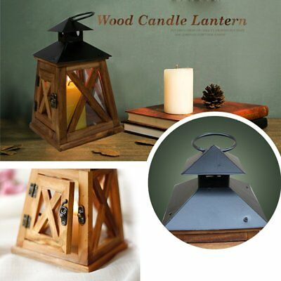 Retro Wood House Candlestick Romantic Wedding Candle Stand Holder Camping Tent