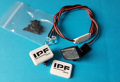 "1/10 1/8 RC CarTruck Buggy Crawler Led Twin Spot Lights ""IPF"" White"
