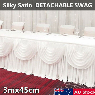 AU 3M Background Backdrop Drape Sheer White Curtain Swag Wedding Party Stage