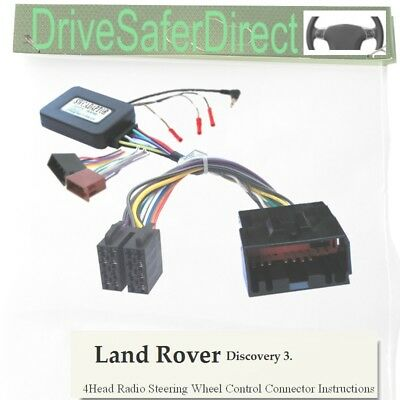 SWC-4494-04J Stalk Adaptor,ISO-JOIN fr Xtrons Radio/Land Rover Discovery 3 05-09