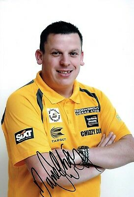 Dave CHISNALL CHIZZY SIGNED Autograph Darts Player 12x8 Photo 1 AFTAL COA
