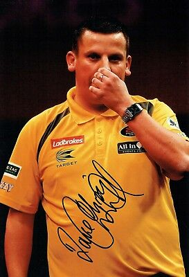 Dave CHISNALL CHIZZY SIGNED Autograph Darts Player 12x8 Photo 2 AFTAL COA