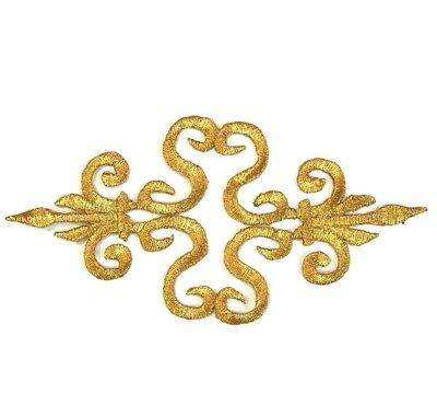 Gold Applique Iron On Embroidery #14 Aust Seller Tutu Dance Stage Costume Trim