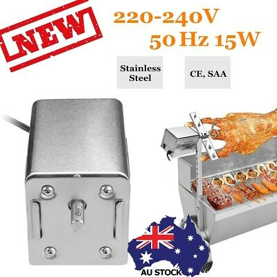 Stainless Steel BBQ Electric Motor 70Kgs Grill Bearing Barbecue Spit Rotisserie