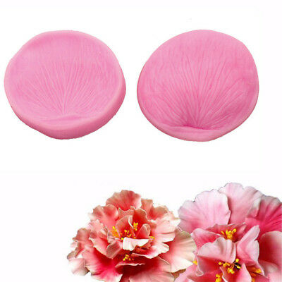2x Peony Flower Petal Leaf Fondant Sugarcraft Cake Cutter Mould Embossing Decor&