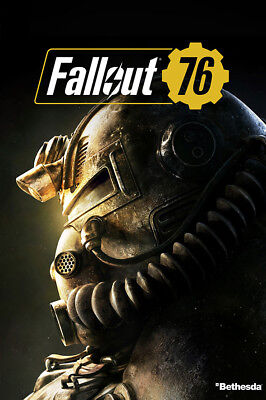 "Fallout 76 Poster 36x24"" 21x14"" New Game 2018 Vault 76 Silk"