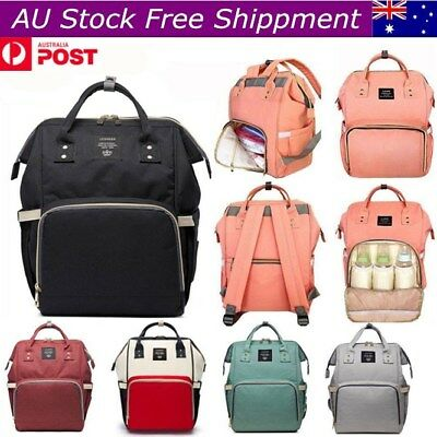 Multifunctional Baby Nappy Diaper Backpack Changing Waterproof Mummy Large Bag