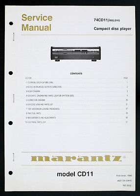 MARANTZ 74cd11/CD11 Original Compact Disc / LECTEUR CD MANUEL DE SERVICE/diagram