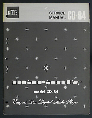 MARANTZ cd-84 Original Compact Disc Lecteur / CD MANUEL DE SERVICE / Diagram