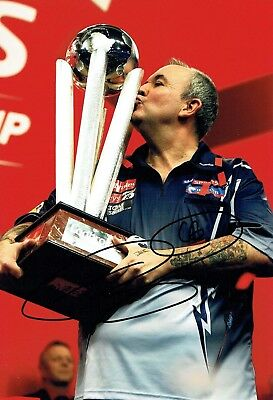 Phil The Power TAYLOR Signed Autograph 16 x Darts Champion Photo 1 AFTAL COA