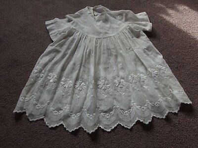 child's antique embroidered dress Christening ? Doll ?
