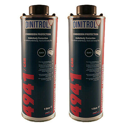 2 x DINITROL 4941 UNDERBODY CHASSIS RUST PROOFING BLACK WAX 1 LITRE