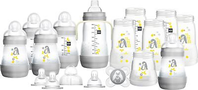 MAM Easy Start Bottle Set Large Grey with Penguins 1 2 3 6 12 Packs