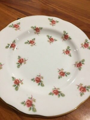 Duchess - Pink Rose Fine Bone China Bread n Butter Side Cake Plate - FREE POST