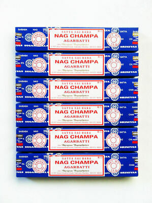 12 x15g box Nag Champa Satya Sai Baba Incense SticksAuthentic Original