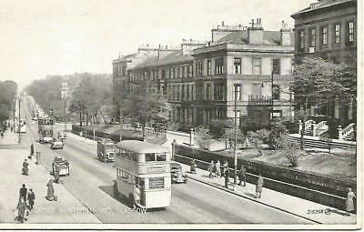 """Great Western Road Glasgow 3.5"""" x 5.5"""" Postcard Unposted"""