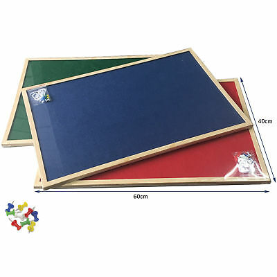Fabric Boards Office School Notice Message Push pin Boards Blue Red Green Colour