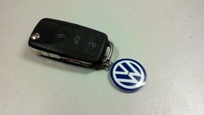 Genuine Volkswagen Enamel blue and white keyring - 000087010