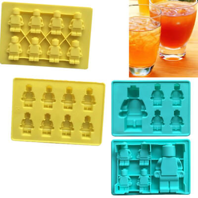 5/8Cups Robot Silicone Mould Lego Sugarcraft Jelly Chocolate Mold Ice Tray Cube