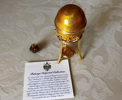Rare FABERGE Imperial Yellow Egg Rabbit